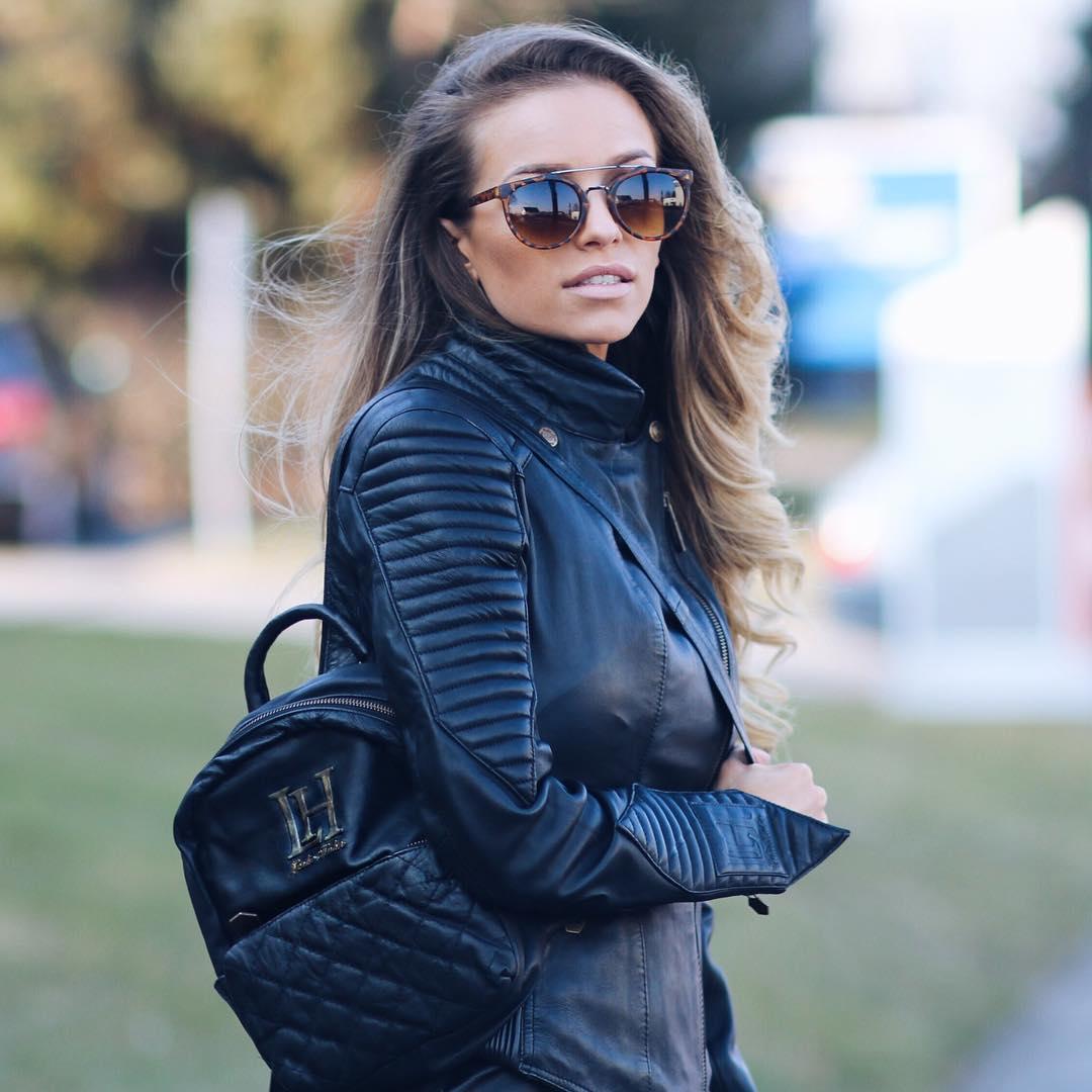 Designer Mode Lederjacke Damen